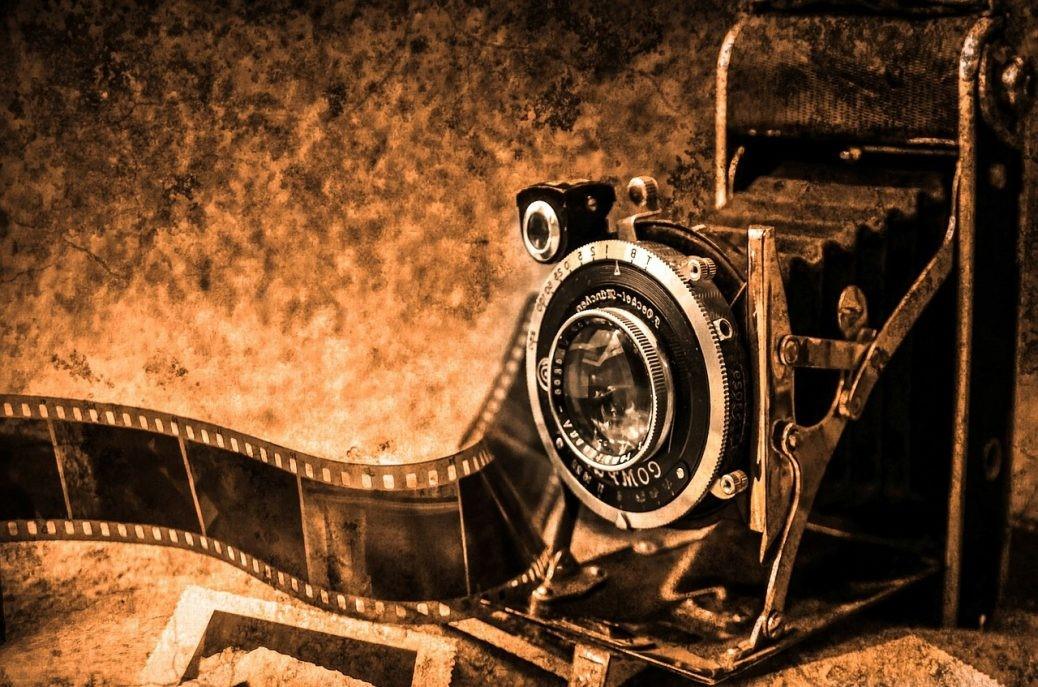 En gammal kamera.