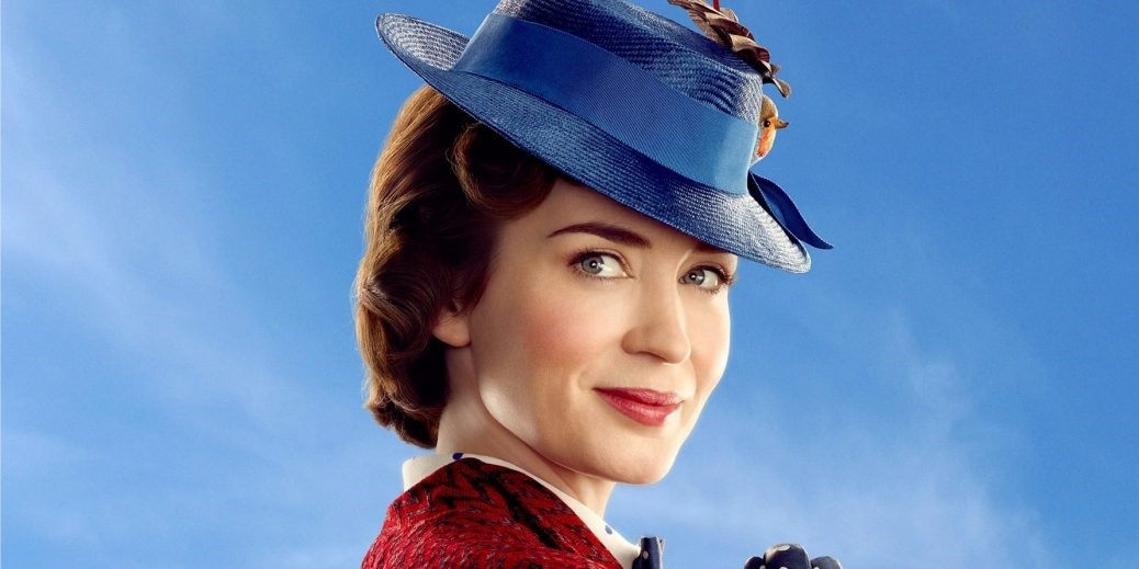 Emily Blunt som Mary Poppins i Mary Poppins Returns.