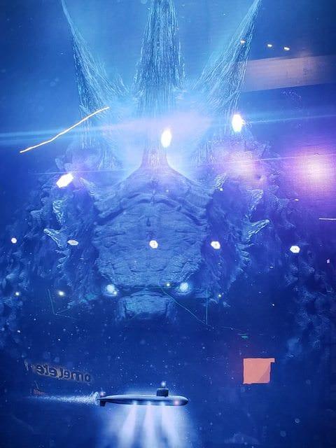 En bild på Godzilla under ytan