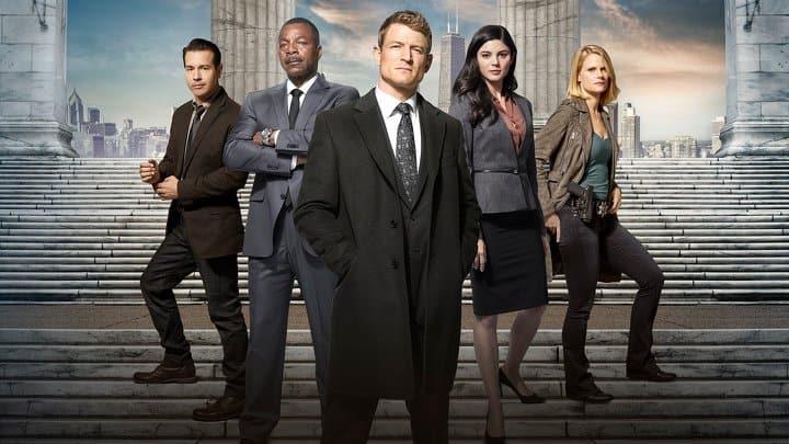 Huvudkaraktärerna från Chicago Justice.