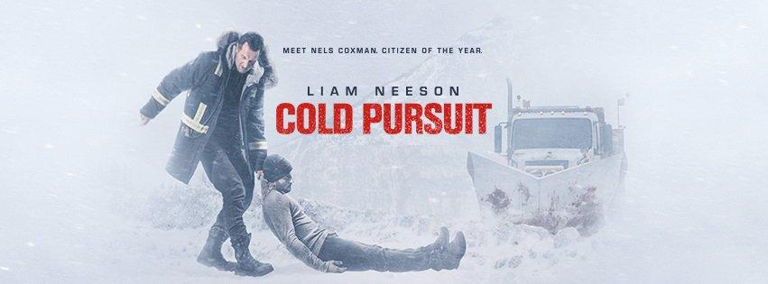 Affisch för Cold Pursuit med Liam Neeson.