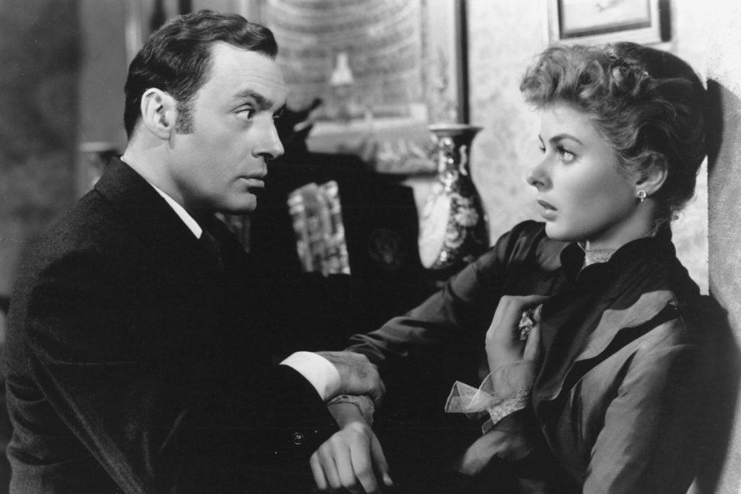"Charles Boyer och Ingrid Bergman i ""Gasljus""."