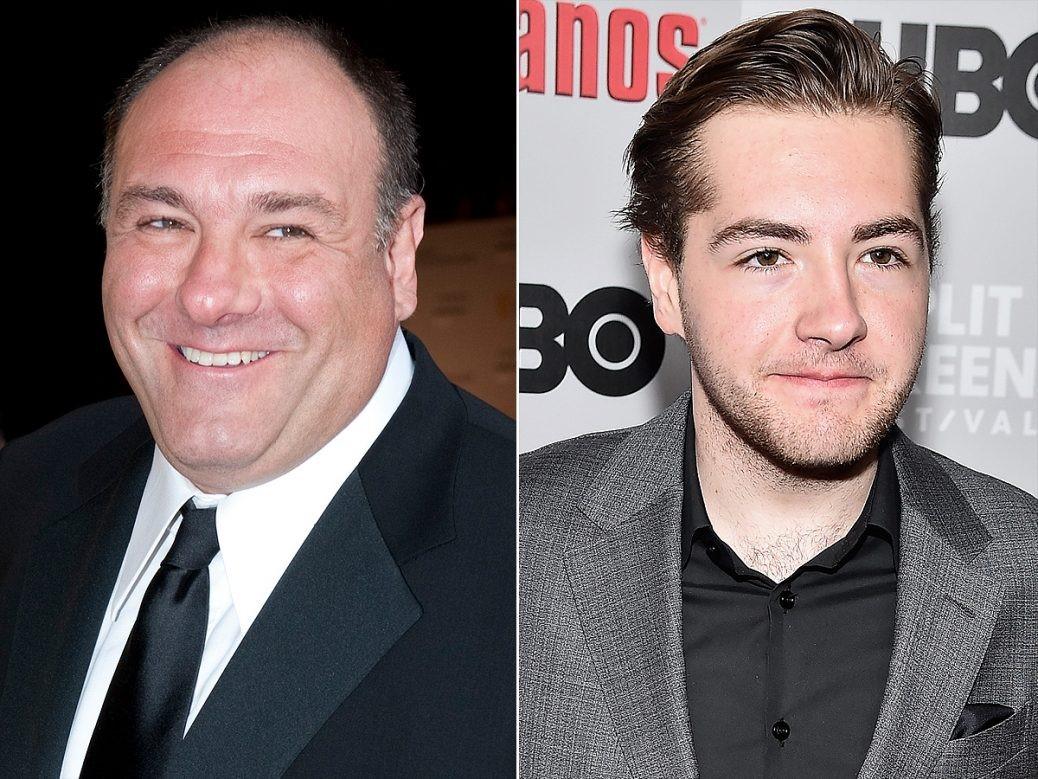 James Gandolfini och sonen Michael Gandolfini.