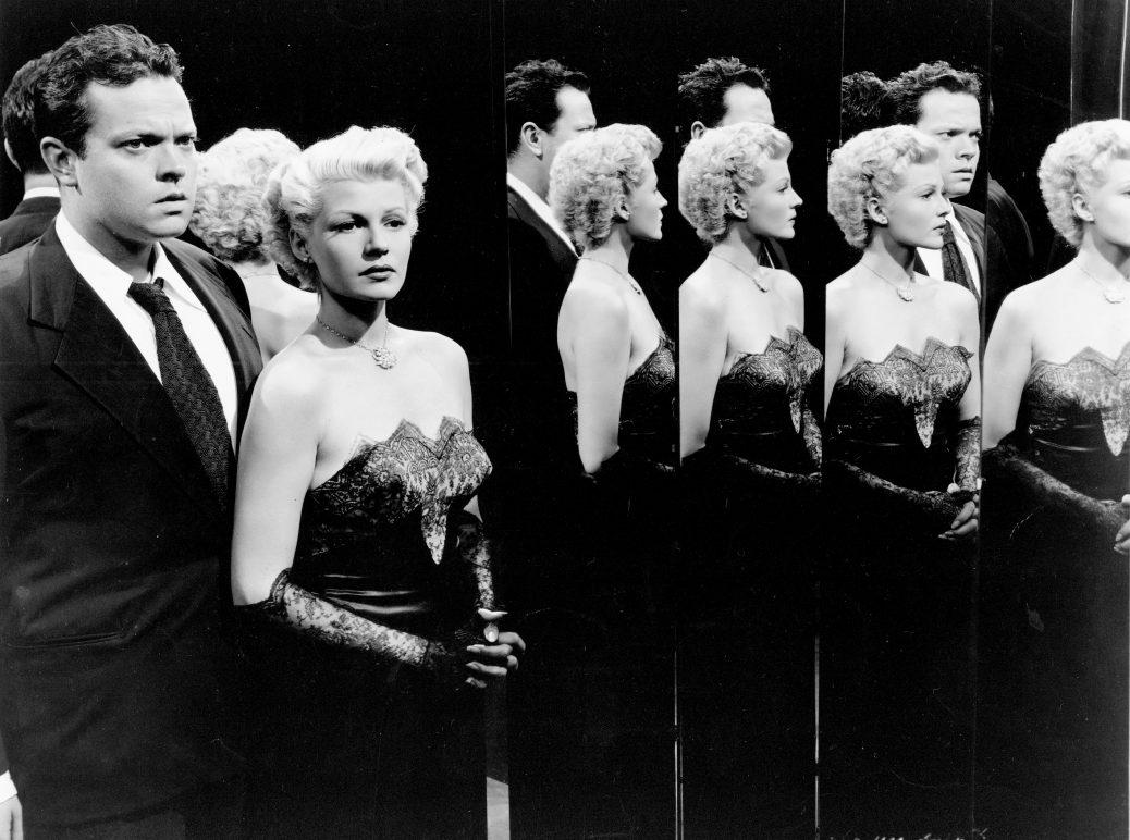 "Orson Welles och Rita Hayworth i ""The Lady From Shanghai""."