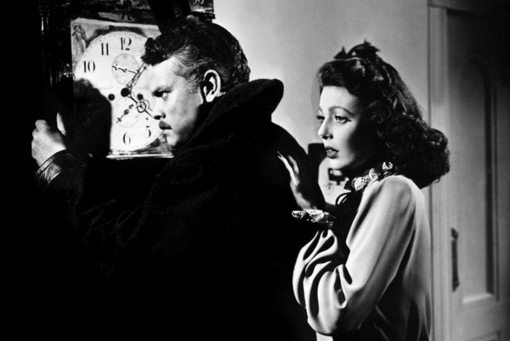 "Orson Welles och Loretta Young i ""The Stranger""."