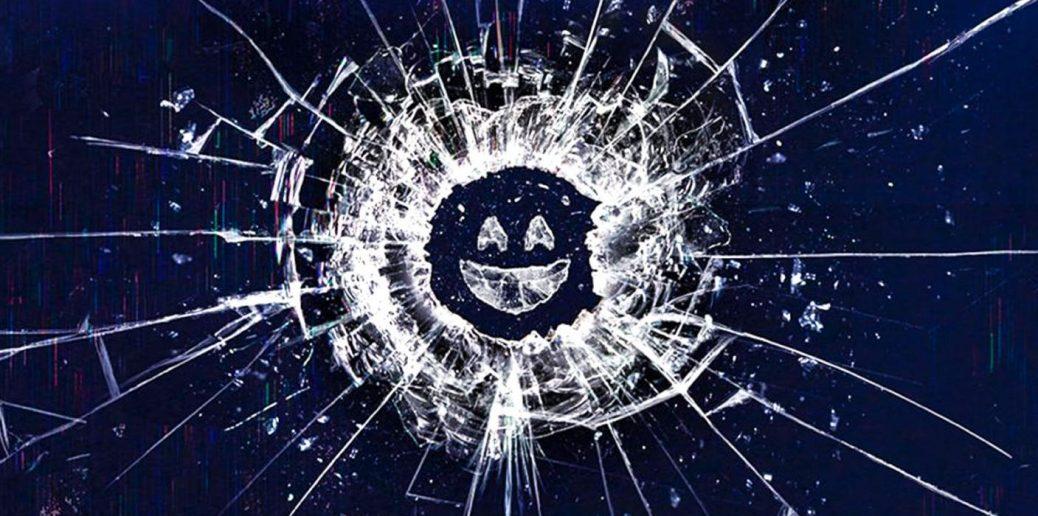 På bilden ser vi en smiley i krossat glas