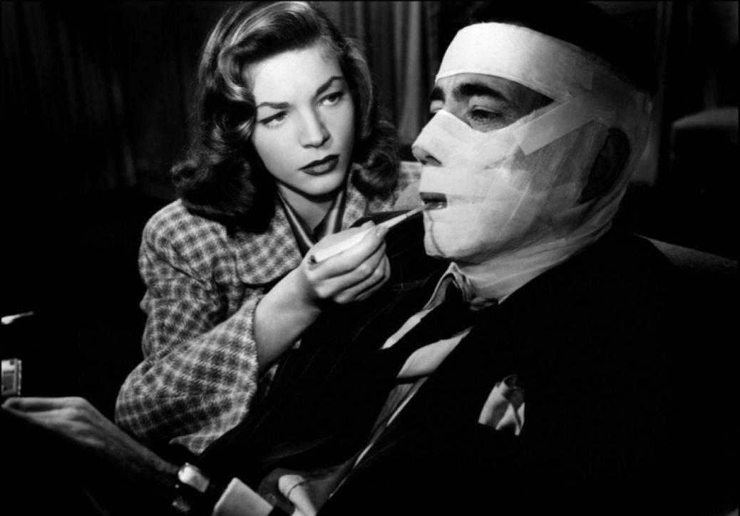 Lauen Bacall och Humphrey Bogart i Mörk Passage.