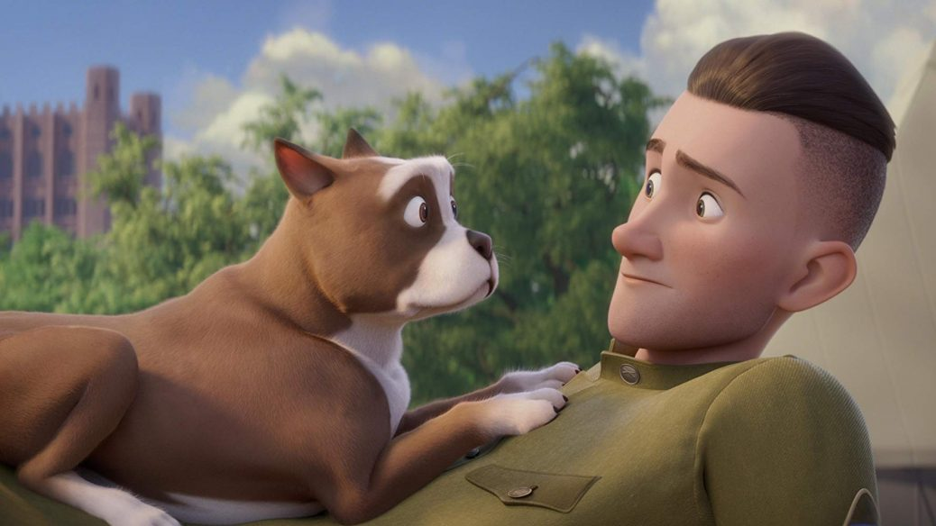 Animerad hund och människa