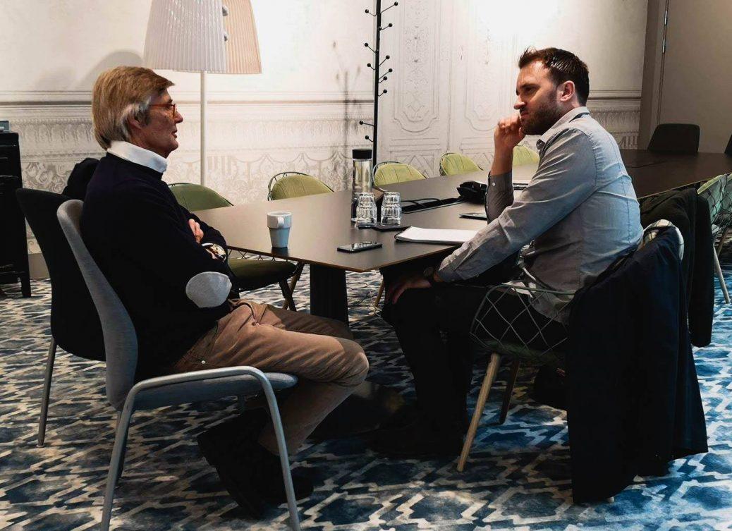 Bille August möter Filmtopps skribent David Lindahl.