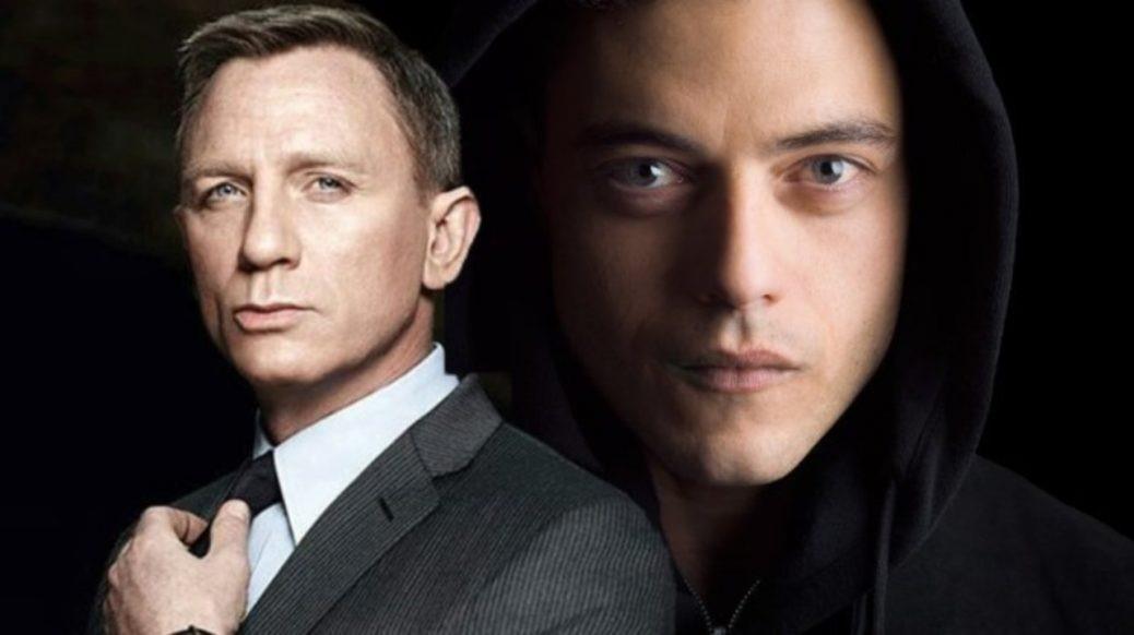 Bild på Rami Malek och Daniel Craig