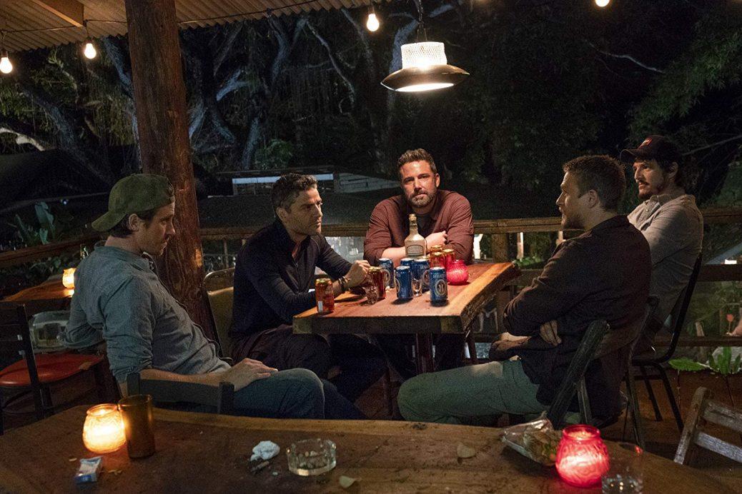 """Triple Frontier"" med Ben Affleck, Charlie Hunnam, Pedro Pascal och Oscar Isaac."