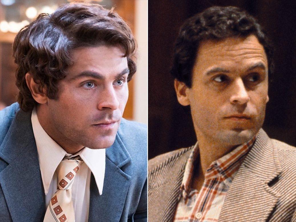 En bild på Zac Efron och Ted Bundy