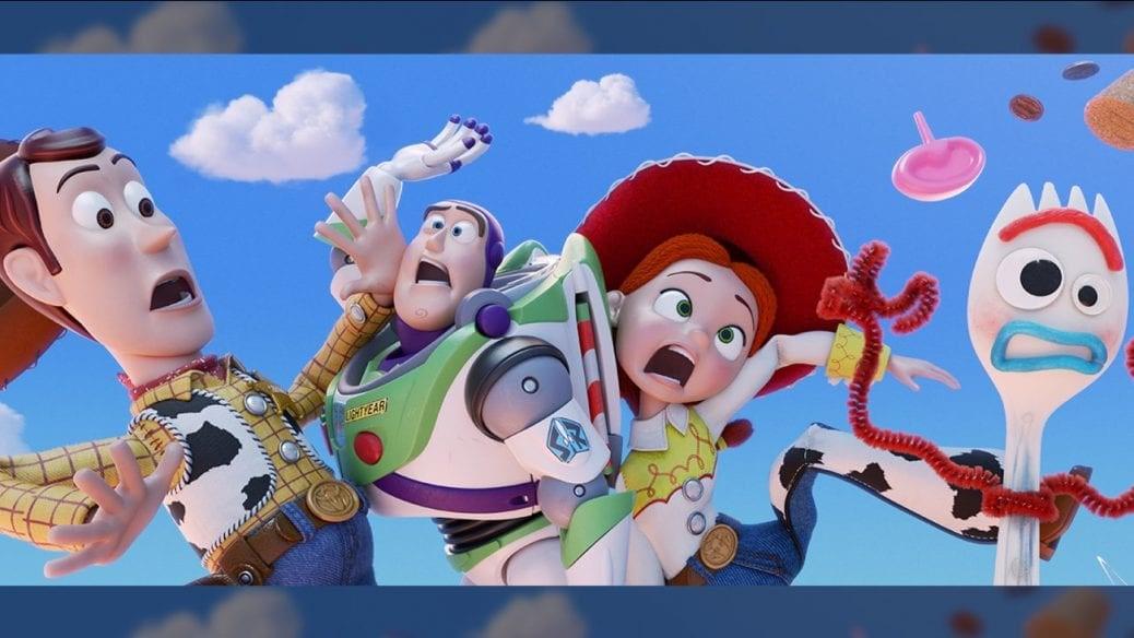 En poster på gänget i Toy Story 4