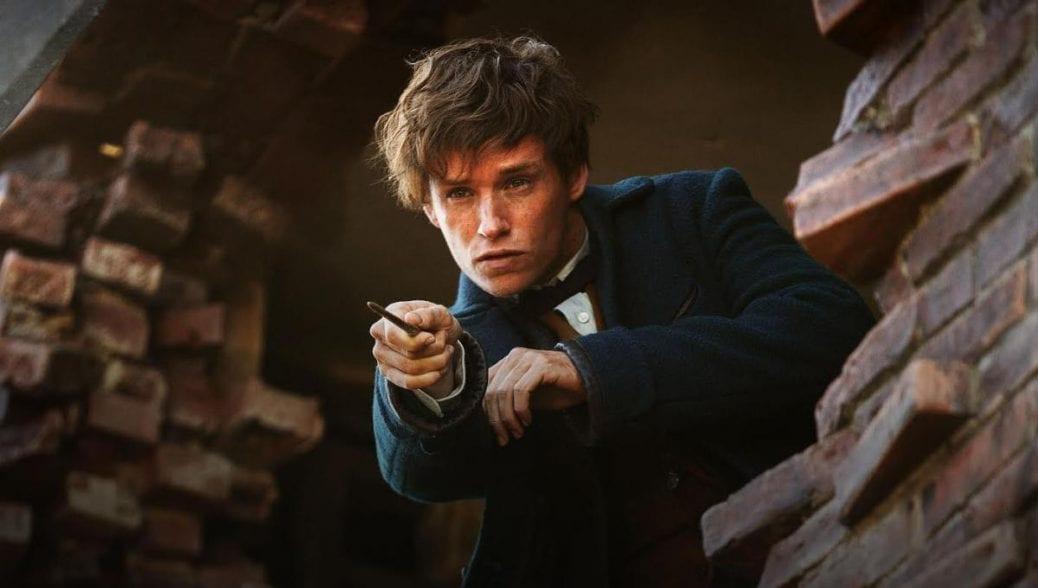 Eddie Redmayne som Newt Scamander i Fantastiska vidunder.