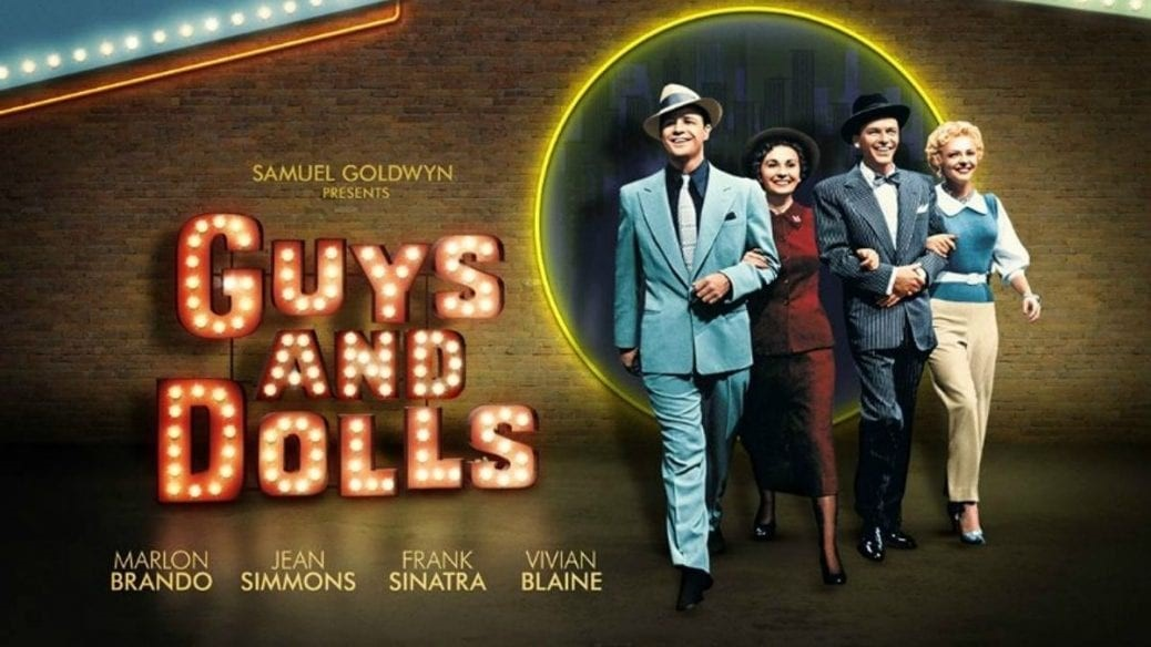 En bild på postern till Guys and Dolls