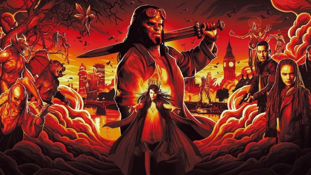 En bild på David Harbour som Hellboy