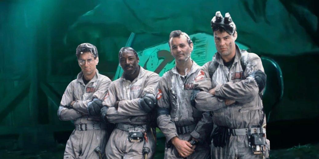 En bild på Ghostbusters gänget