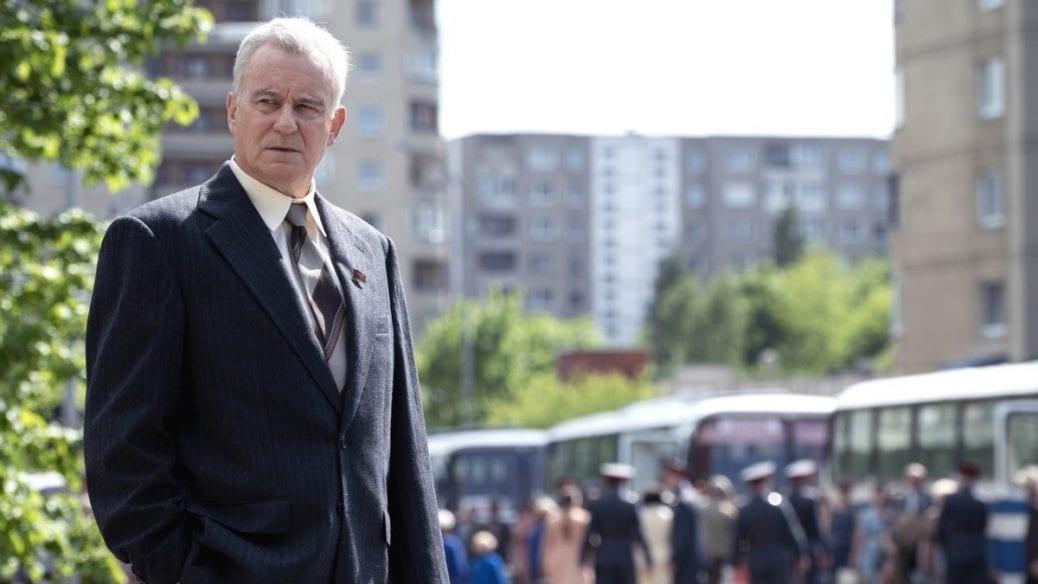Stellan Skarsgård i rollen som Boris Scherbina. Får vi se Chernobyl säsong 2?