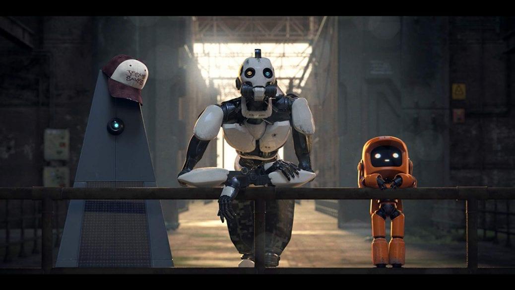 """Tre robotar i avsnittet """"Three Robots""""."""