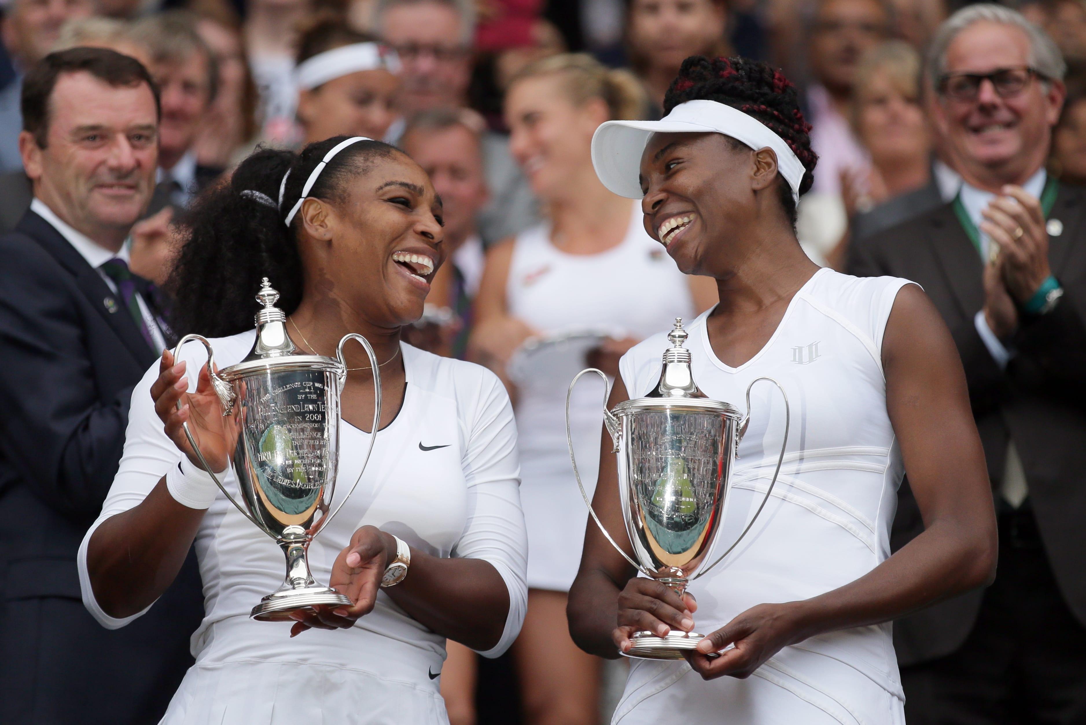 Tennisstjärnorna Venus och Serena Williams