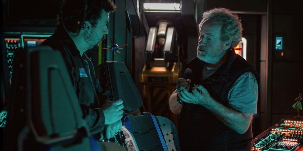"""Danny McBride och Ridley Scott i """"Alien: Covenant""""."""