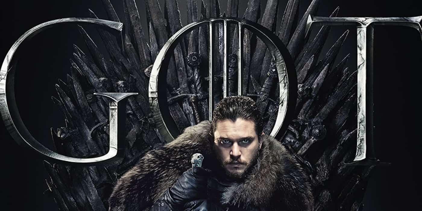 Jon Snow på Järntronen i Game of Thrones.