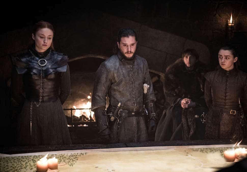 Nyckelkaraktärerna har strategimöte i Game of Thrones