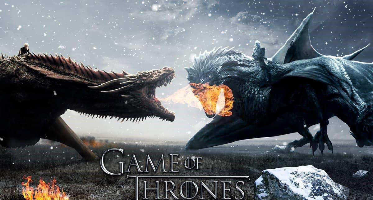 Daenerys och The Night King på var sin drake i affisch för sista säsongen av Game of Thrones