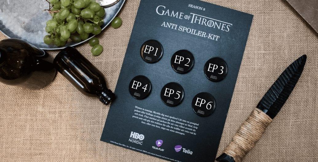 Ett spoilerkit för Game of Thrones säsong 8.