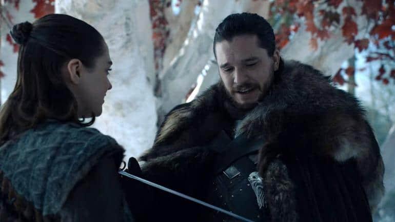 Jon Snow och Arya Stark i Game of Thrones
