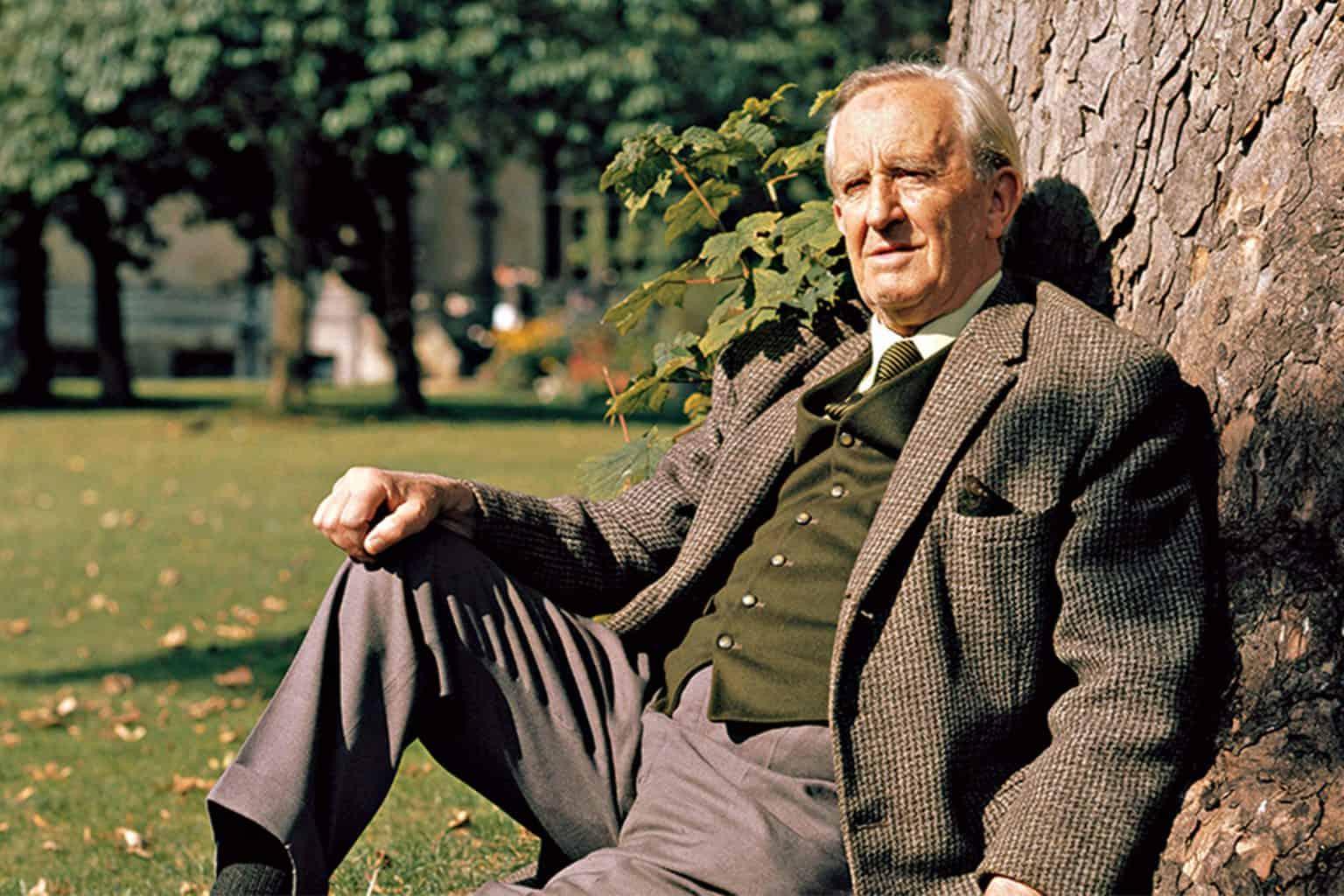 En bild av författaren J.R.R Tolkien