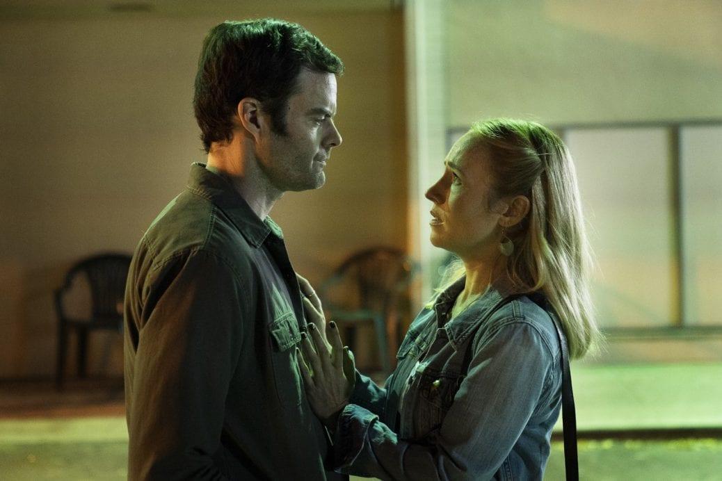 """Bill Hader som Barry och Sarah Goldberg som Sally i """"Barry""""."""