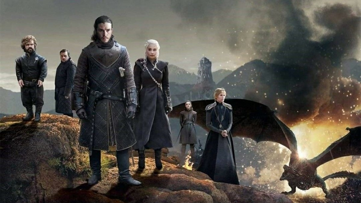 En bild på gänget i Game of Thrones
