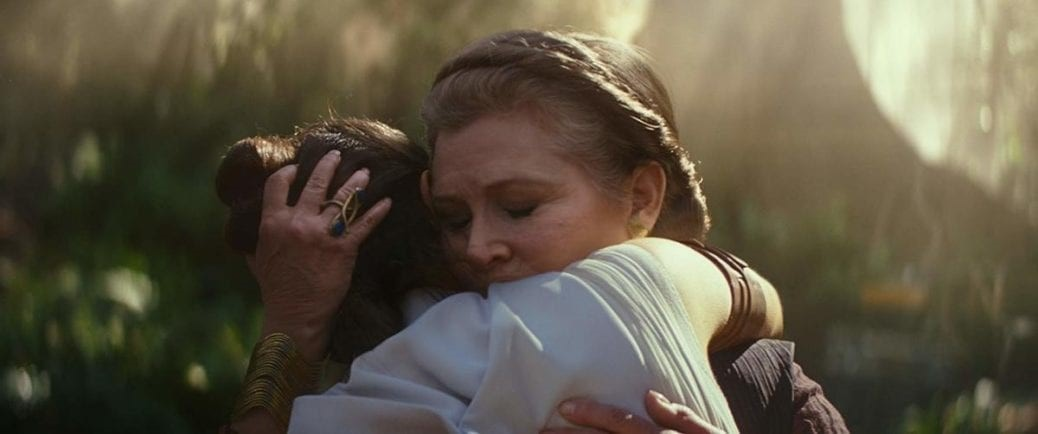 Carrie Fisher som Leia.