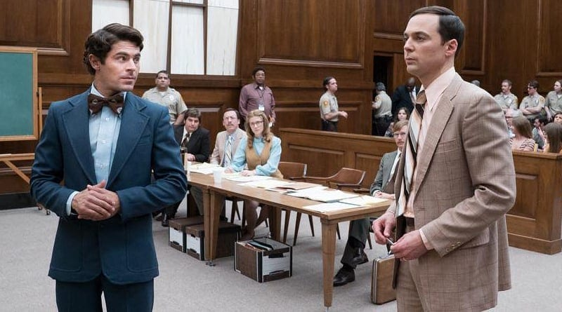 Zac Efron och Jim Parsons i Extremely Wicked, Shockingly Evil, and Vile