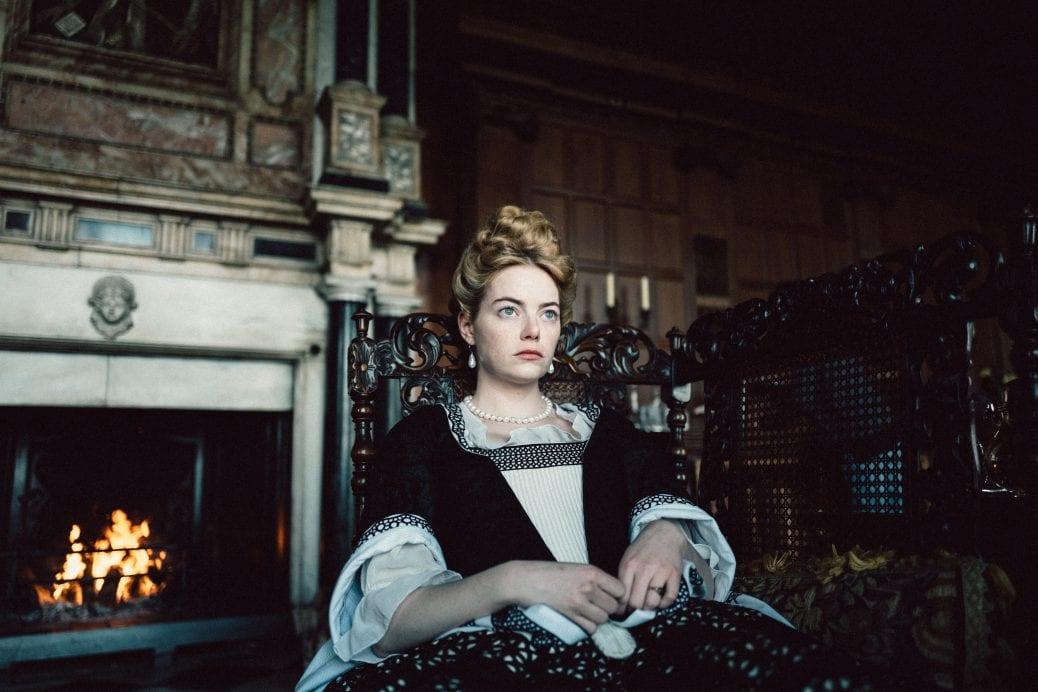 Emma Stone i The Favourite av Yorgos Lanthimos.