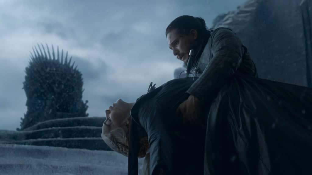 Daenerys, Jon och Järntronen i Game of Thrones.