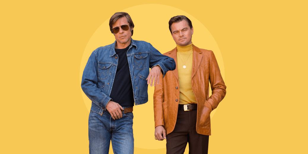 Brad Pitt och Leonardo DiCaprio i Once upon a time… in the west.