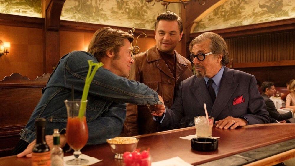 Brad Pitt, Leonardo CiCaprio och Al Pacino i Once Upon a Time... in Hollywood.