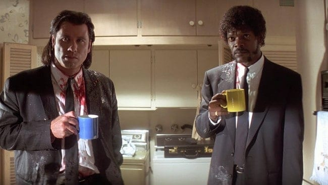 John Travolta och Samuel L. Jackson i Pulp Fiction.