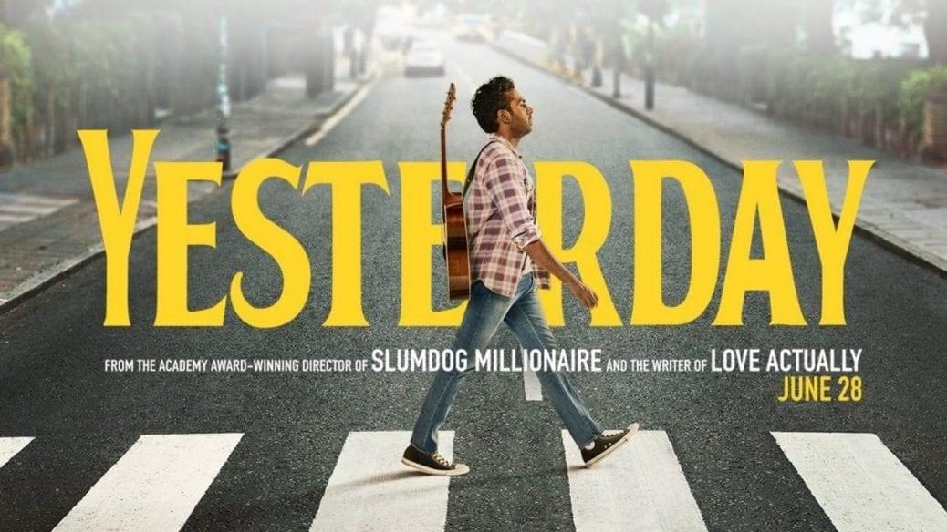 Himesh Patel går över det klassiska Beatles-övergångsstället i Danny Boyles film Yesterday.