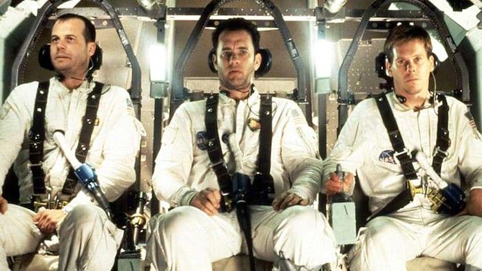 """Bill Paxton, Tom Hanks och Kevin Bacon i """"Apollo 13"""""""