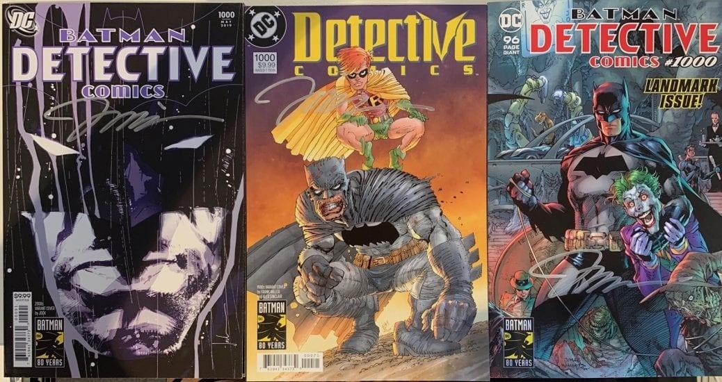 Batmantidningar som är signerade.