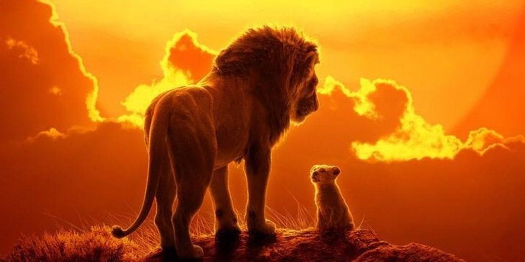 Simba och Mufasa i nya versionen av Lejonkungen.