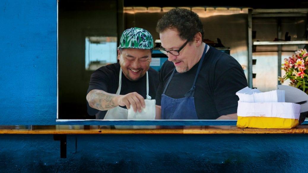 "Jon Favreau och Roy Choi i ""The Chef Show""."
