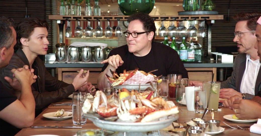 """Tom Holland och Robert Downey Jr. bjuds på mat i """"The Chef Show""""."""