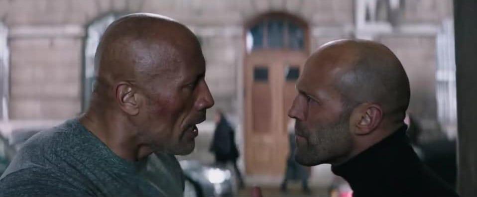 Dwayne Johnson och Jason Statham i Hobbs & Shaw