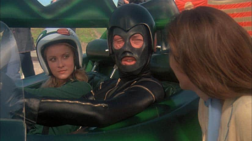 David Carradine som Frankenstein i Death Race 2000