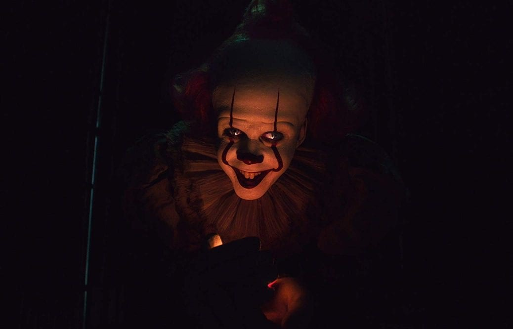 Bill Skarsgård som clownen Pennywise.