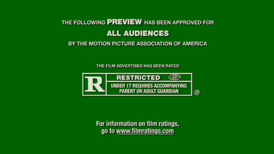 Upplysningstexten i början av amerikanska trailers